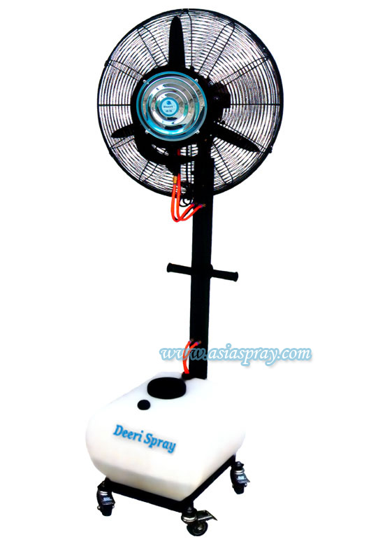 Spray fan for the factory
