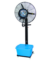 Economical pedestal spray fan
