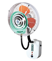 Wall mounted misting fan with rain protection and remote type500