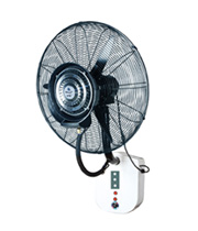 Wall mounted misting fan with water protection and remote control type650