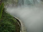 Artificial fog system for scenic zone