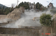 Artificial fog system for rockery