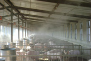 Temperature reduction system for animal husbandry